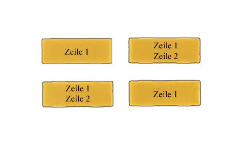 Clips gelb - Kunststoff Schilder