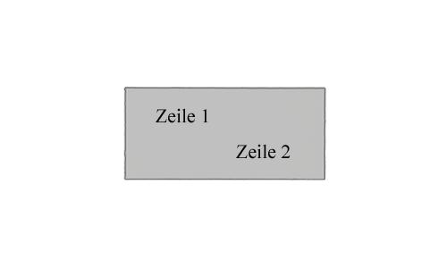 Schildschiene - Metall Schilder